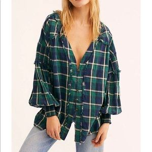 Free people / we the free oasis button down blouse
